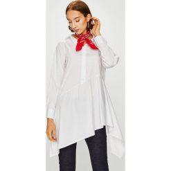 Answear - Koszula. Szare koszule damskie ANSWEAR, z bawełny, casualowe, z asymetrycznym kołnierzem, z długim rękawem. W wyprzedaży za 99.90 zł.