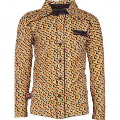 """Koszula """"System"""" w kolorze błękitno-antracytowo-żółtym. Koszule dla chłopców marki bonprix. W wyprzedaży za 102.95 zł."""