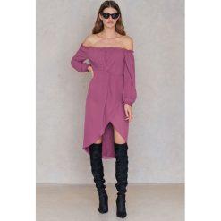 FAYT Sukienka Jack - Purple. Fioletowe sukienki damskie FAYT, z poliesteru, boho, z kopertowym dekoltem. Za 207.95 zł.
