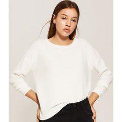 Sweter o ryżowym splocie - Kremowy. Swetry damskie marki KALENJI. W wyprzedaży za 39.99 zł.