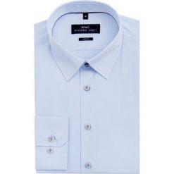 Koszula SIMONE SLIM KDNS000003. Niebieskie koszule męskie Giacomo Conti, z bawełny, z klasycznym kołnierzykiem. Za 199.00 zł.