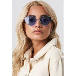 NA-KD Accessories Kolorowe okulary przeciwsłoneczne - Purple. Fioletowe okulary przeciwsłoneczne damskie NA-KD Accessories. Za 80.95 zł.