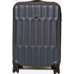 VIP COLLECTION - Walizka 35 L. Szare walizki męskie VIP COLLECTION, z materiału. W wyprzedaży za 279.90 zł.