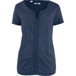 Bluzka bawełniana, krótki rękaw bonprix ciemnoniebieski. Bluzki damskie marki DOMYOS. Za 32.99 zł.