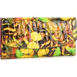 Duży Portfel Damski NOBO - NPUR-LG0190-CM02 Multi Żółty. Żółte portfele damskie Nobo, z lakierowanej skóry. W wyprzedaży za 169.00 zł.