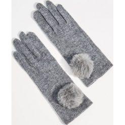 Wełniane rękawiczki z pomponem - Szary. Rękawiczki damskie marki B'TWIN. W wyprzedaży za 19.99 zł.