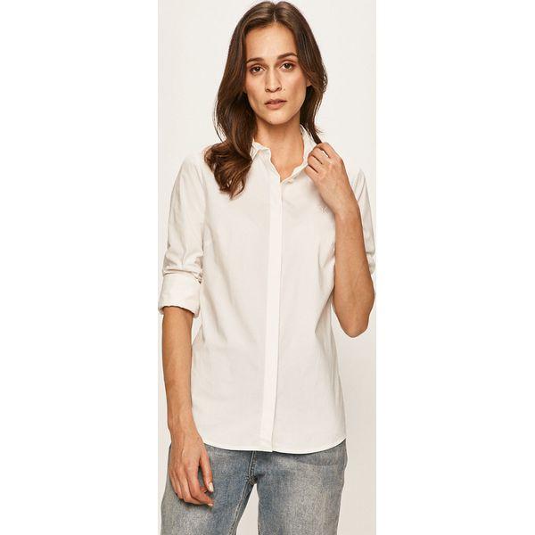 Koszula damska Calvin Klein bez kołnierzyka biała z długim