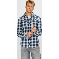G-Star Raw - Koszula. Szare koszule męskie G-Star Raw, w kratkę, z bawełny, z długim rękawem. Za 549.90 zł.