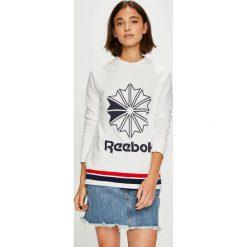 Reebok Classic - Bluza. Szare bluzy męskie Reebok Classic, z nadrukiem, z bawełny. Za 229.90 zł.