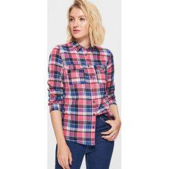 Koszula w kratę - Różowy. Czerwone koszule damskie Cropp. Za 49.99 zł.