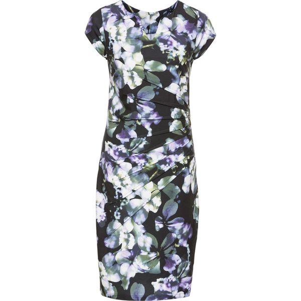 a6109b27c7 Sukienka bonprix lila-zielony w kwiaty - Sukienki damskie marki ...