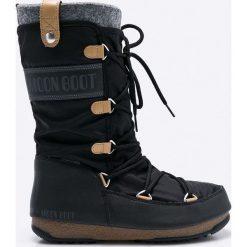 Moon Boot - Śniegowce Monaco Felt. Czarne śniegowce i trapery damskie Moon Boot. Za 649.90 zł.