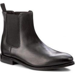 Sztyblety CLARKS - Ellis Franklin 261273797 Black Leather. Czarne botki męskie Clarks, z materiału. W wyprzedaży za 469.00 zł.