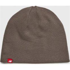 New Balance - Czapka. Szare czapki i kapelusze damskie New Balance, z dzianiny. W wyprzedaży za 89.90 zł.