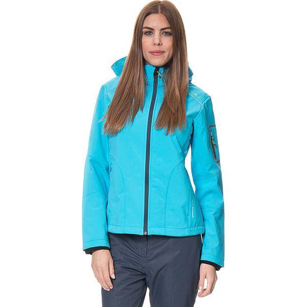 d012c510f0dfa Kurtka softshellowa w kolorze błękitnym - Niebieskie kurtki damskie ...