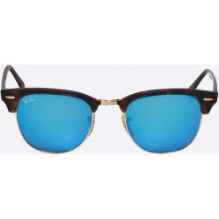 Ray-Ban - Okulary Clubmaster. Brązowe okulary przeciwsłoneczne męskie Ray-Ban, z materiału. Za 599.90 zł.