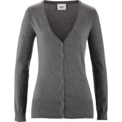 Sweter rozpinany bonprix szary melanż. Kardigany damskie marki bonprix. Za 59.99 zł.