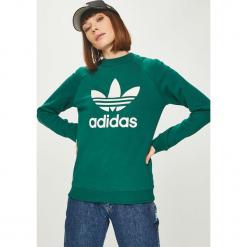 Adidas Originals - Bluza. Szare bluzy damskie adidas Originals, z nadrukiem, z bawełny. Za 249.90 zł.