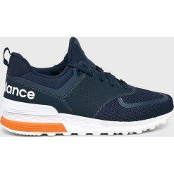 New Balance - Buty MS574PCN. Brązowe buty sportowe męskie New Balance, z materiału. Za 449.90 zł.