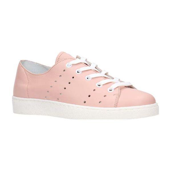 cfd42169c8298 Skórzane sneakersy w kolorze jasnoróżowym - Trampki i tenisówki ...