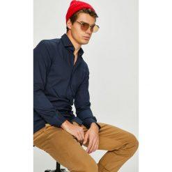 Tommy Hilfiger Tailored - Koszula. Szare koszule męskie Tommy Hilfiger Tailored, z bawełny, z włoskim kołnierzykiem, z długim rękawem. Za 359.90 zł.
