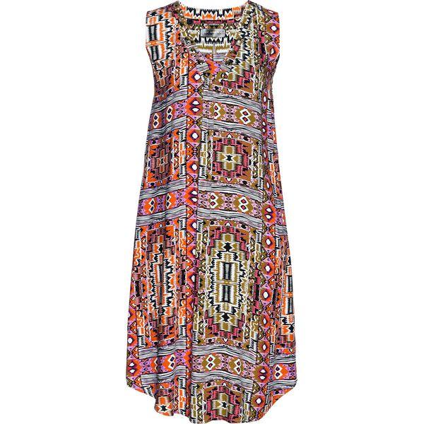 b138d96327 Sukienka z wiskozy bonprix khaki z nadrukiem - Sukienki damskie ...