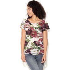 Colour Pleasure Koszulka CP-034  187 biało-bordowa r. XS/S. T-shirty damskie Colour Pleasure. Za 70.35 zł.