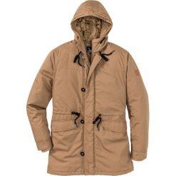Kurtka parka Regular Fit bonprix koniakowy. Brązowe kurtki męskie bonprix, z aplikacjami. Za 239.99 zł.