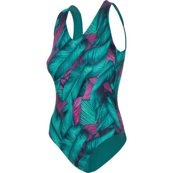f1aef984ed2347 Kostium kąpielowy damski KOSP204 - morska zieleń - Zielone kostiumy  jednoczęściowe damskie 4f, bez wzorów, z materiału. W wyprzedaży za 59.99  zł.