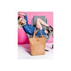 Duża torba typu shopper Mili Chic MC4 - camel. Brązowe torebki shopper damskie Militu. Za 179.00 zł.
