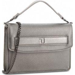 Torebka TRUSSARDI JEANS - Paprica 75B00536 E285. Szare torebki do ręki damskie TRUSSARDI JEANS, z jeansu. Za 489.00 zł.