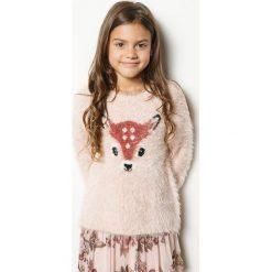 Blukids - Sweter dziecięcy 98-128 cm. Swetry dla dziewczynek Blukids, z dzianiny, z okrągłym kołnierzem. W wyprzedaży za 69.90 zł.
