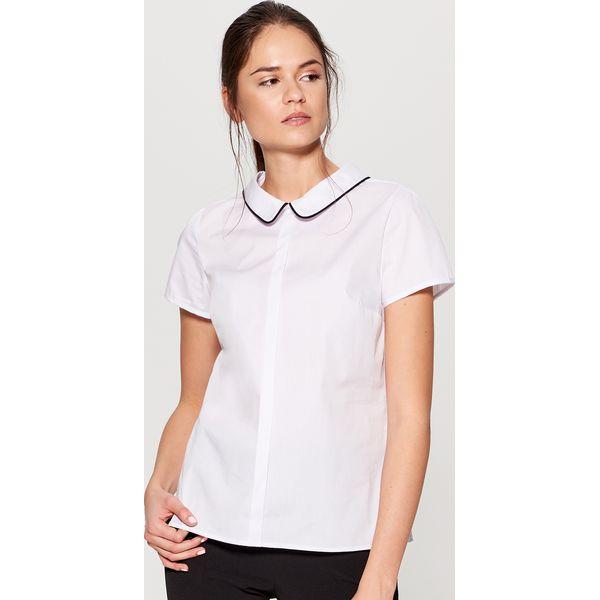 bdfdf4ada Koszula z kontrastowym wiązaniem na plecach - Biały - Koszule ...