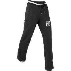 Spodnie sportowe, długie, Level 1 bonprix czarny. Spodnie dresowe damskie marki bonprix. Za 74.99 zł.