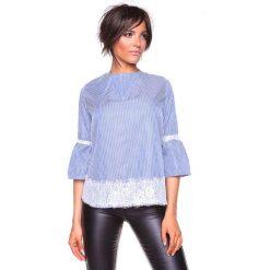 """Koszulka """"Kelly"""" w kolorze niebiesko-białym. Bluzki damskie La Belle Française, w paski, z okrągłym kołnierzem. W wyprzedaży za 152.95 zł."""