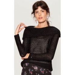 Sweter z wełną - Czarny. Czarne swetry damskie Mohito, z wełny. Za 89.99 zł.