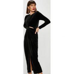 Trendyol - Sukienka. Czarne sukienki damskie Trendyol, z dzianiny, casualowe, z okrągłym kołnierzem, z długim rękawem. Za 159.90 zł.
