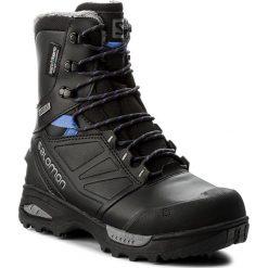Śniegowce SALOMON - Toundra Pro Cswp 399722 21 G0 Phantom/Black/Amparo Blue. Czarne kozaki damskie Salomon, z materiału. W wyprzedaży za 619.00 zł.