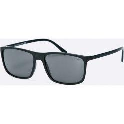 Polo Ralph Lauren - Okulary. Szare okulary przeciwsłoneczne męskie Polo Ralph Lauren, z materiału. Za 599.90 zł.