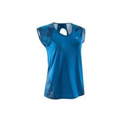 Koszulka fitness kardio krótki rękaw 500 damska. Niebieskie koszulki sportowe damskie DOMYOS. Za 39.99 zł.