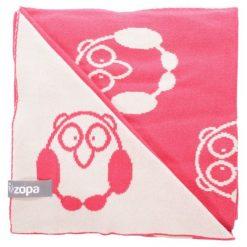 Zopa Kocyk Dziecięcy Little Owl, Redwine. Różowe kocyki dla dzieci Zopa, z bawełny. Za 119.00 zł.