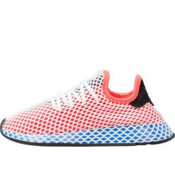 Adidas Originals DEERUPT RUNNER J Tenisówki i Trampki solar red/bluebird. Buty sportowe chłopięce adidas Originals, z materiału. Za 449.00 zł.