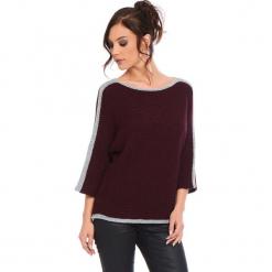 """Sweter """"Cecile"""" w kolorze bordowym. Czerwone swetry damskie Cosy Winter, ze splotem, z okrągłym kołnierzem. W wyprzedaży za 159.95 zł."""