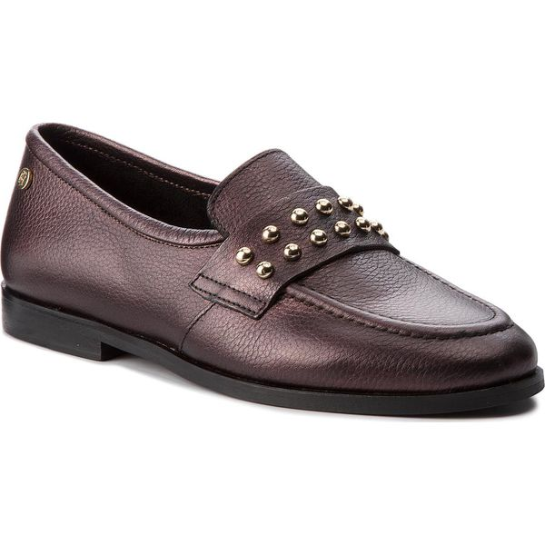 5664159ea0e7e Półbuty TOMMY HILFIGER - Round Stud Loafer FW0FW03576 Decadent ...