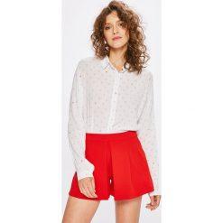 Answear - Koszula Stripes Vibes. Szare koszule damskie ANSWEAR, z tkaniny, casualowe, z klasycznym kołnierzykiem, z długim rękawem. W wyprzedaży za 59.90 zł.