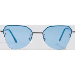 NA-KD Accessories Okulary przeciwsłoneczne kocie oczy - Blue,Silver. Niebieskie okulary przeciwsłoneczne damskie NA-KD Accessories. Za 52.95 zł.