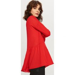 Sweter z falbaną - Czerwony. Czerwone kardigany damskie Reserved. Za 59.99 zł.