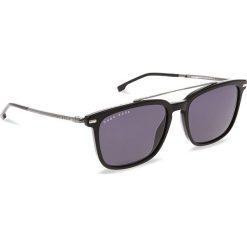 Okulary przeciwsłoneczne BOSS - 0930/S Black 807. Czarne okulary przeciwsłoneczne męskie Boss, z tworzywa sztucznego. W wyprzedaży za 529.00 zł.