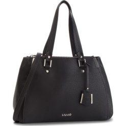 Torebka LIU JO - L Double Zip Satchel N68012 E0033 Nero 22222. Czarne torebki do ręki damskie Liu Jo, ze skóry ekologicznej. Za 689.00 zł.