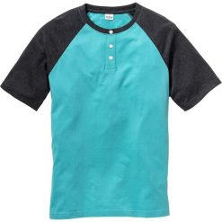 T-shirt z rękawami reglanowymi Regular Fit bonprix zieleń morska + antracytowy melanż. T-shirty męskie marki Giacomo Conti. Za 24.99 zł.